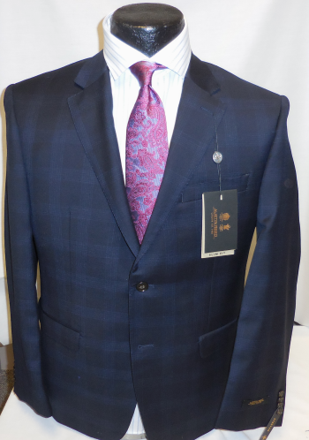 Austin Reed Navy Plaid Suit