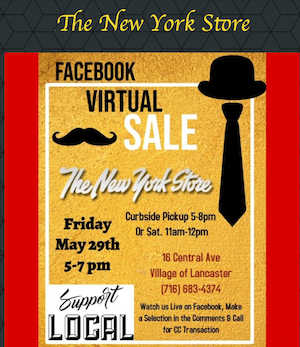 NY Store Facebook Live Shopping Event – Friday, 5/29